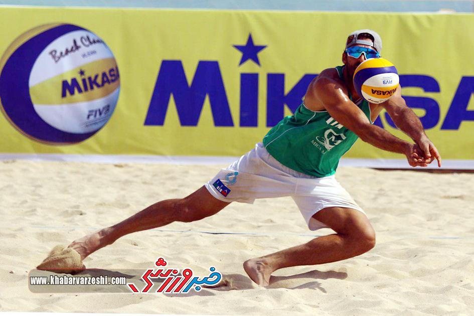 گزارش تصویری| روز چهارم مسابقات والیبال ساحلی تور سه ستاره کیش