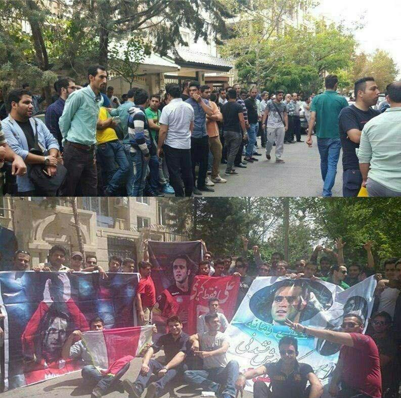 عکس| غیرواقعی بودن تجمع هواداران علی کریمی