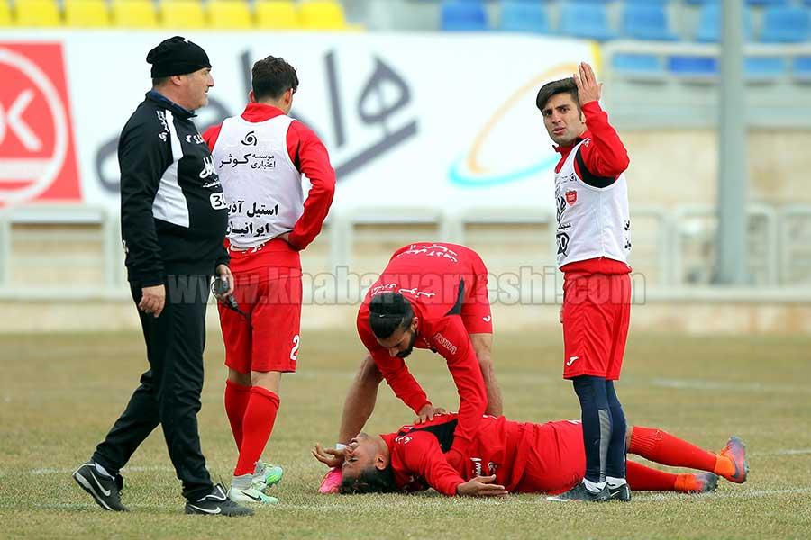 گزارش تصویری  تمرین پرسپولیس تحت تاثیر مصدومیت بازیکن جوان