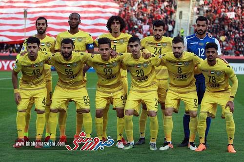 ترکیب الوصل امارات برای بازی با پرسپولیس